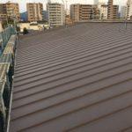 京都市上京区にてシングル屋根のカバー工法(立平葺き)